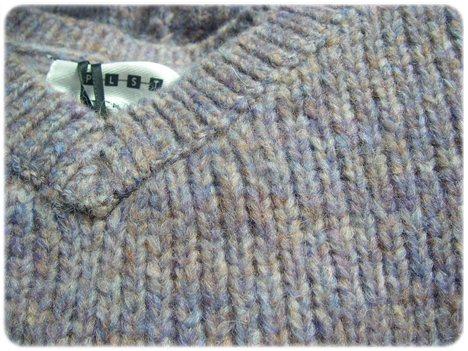 プラステのアルパカ混セーター