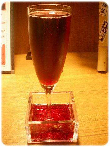 樽生スパークリングワイン赤