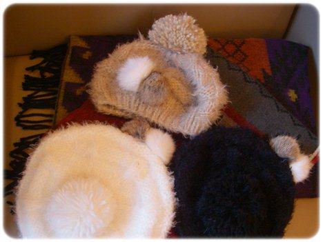 3色の帽子