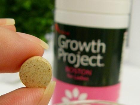小さい粒のサプリメントに必要な栄養素が詰まっています