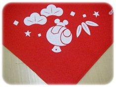 2013ミッキーおせちは赤い風呂敷
