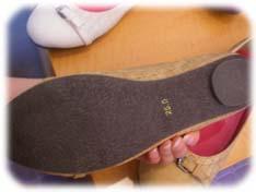 バレエパンプスの靴底