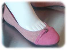 ピンクのバレエパンプス