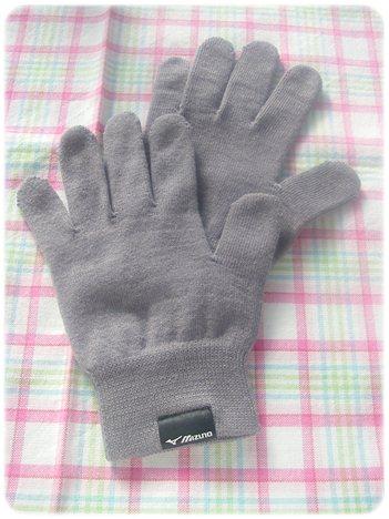 Mizunoブレスサーモ インナー手袋