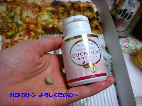 カロリストンとピザ