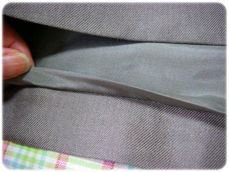 裾の仕上げ