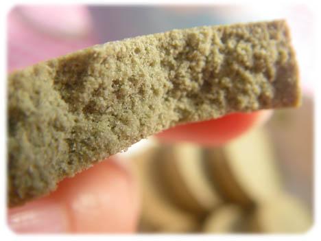 豆乳クッキーの断面