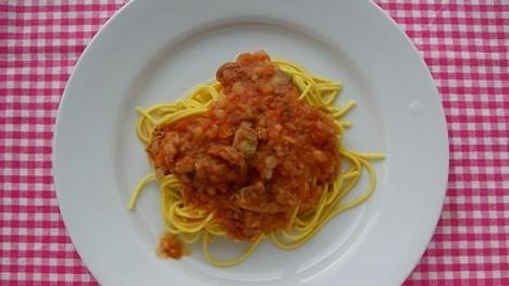 パスタdeスリム「魚介とトマトのマリナーラソース」
