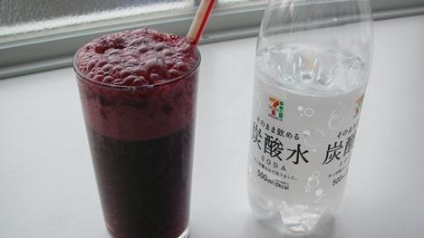 スムージー+炭酸