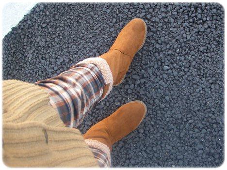 フォーエバー21のブーツで散歩