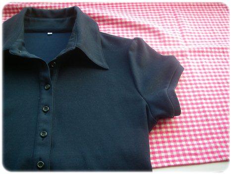 パットクールポロシャツ紺Mサイズ